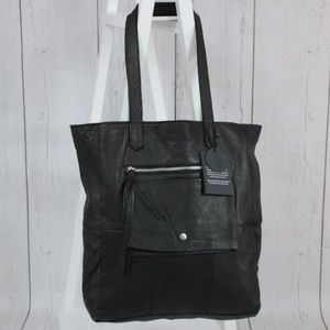 Day & Mood Heather Black Unlined Leather Tote